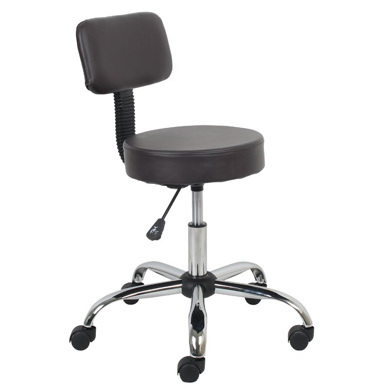 Bate Height Adjustable Lab Stool With Caster Wheels