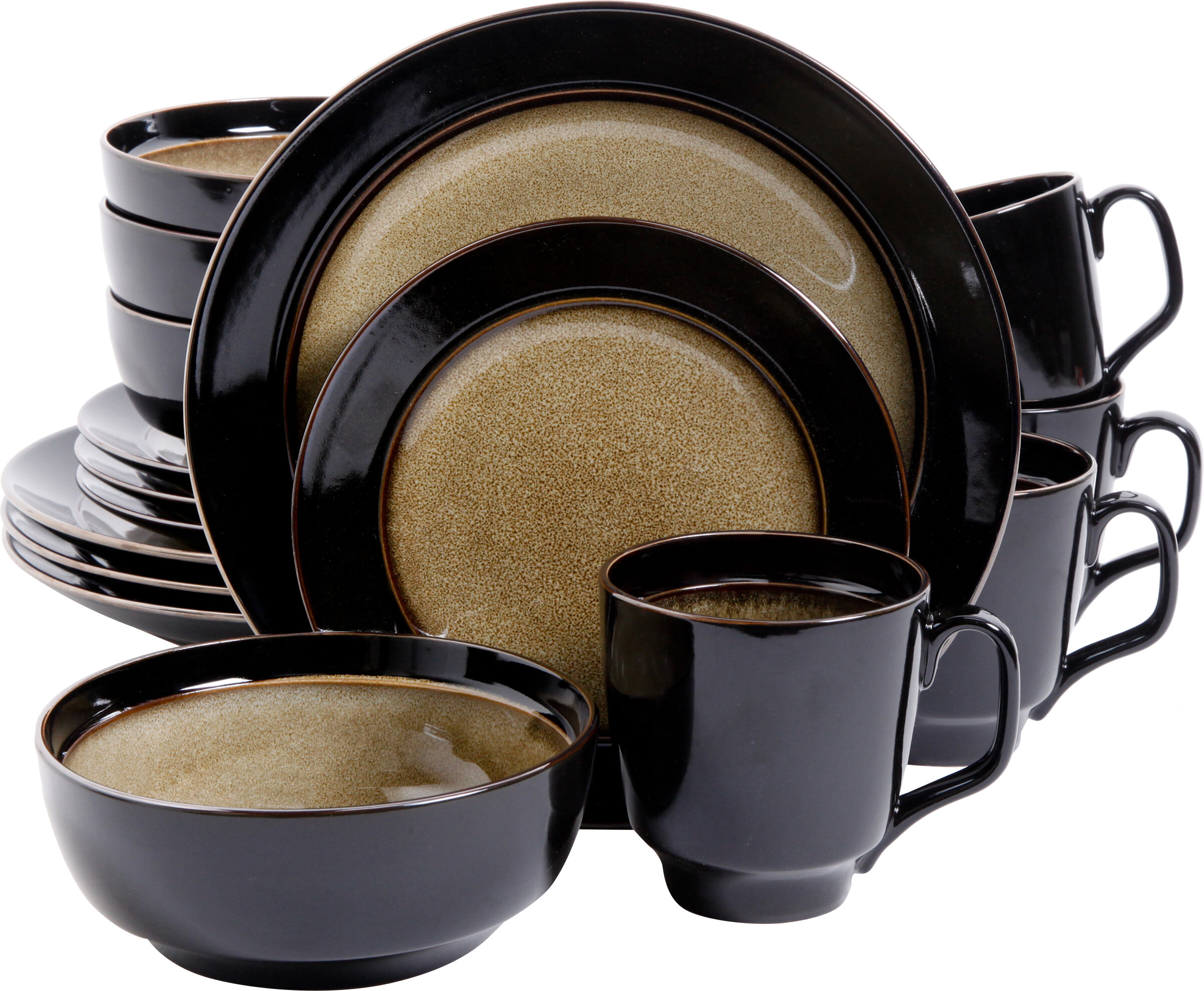 Mint Pantry Stoneware 16 Piece Dinnerware Set Service for 4 u0026 Reviews | Wayfair  sc 1 st  Wayfair & Mint Pantry Stoneware 16 Piece Dinnerware Set Service for 4 ...