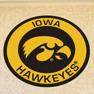 NCAA University of Iowa Roundel Mat
