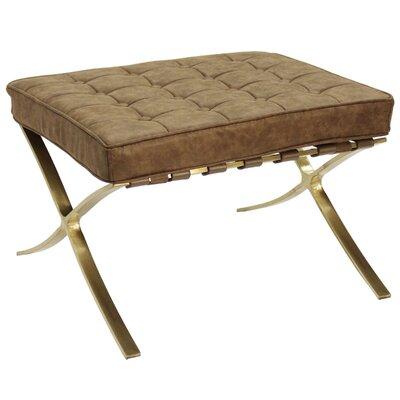 Brayden Studio Leung Ottoman Upholstery: Brown