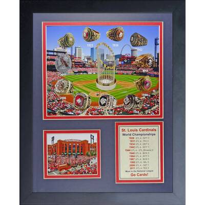 St Louis Cardinals World Series Rings And Championships Framed Memorabilia