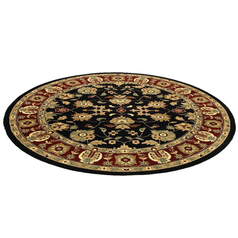 Black And Red Area Rugs charlton home rowena persian black/red area rug & reviews | wayfair