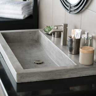 Trough Stone Rectangular Drop In Bathroom Sink