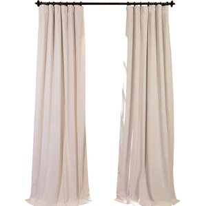 hackney velvet solid blackout rod pocket single curtain panel