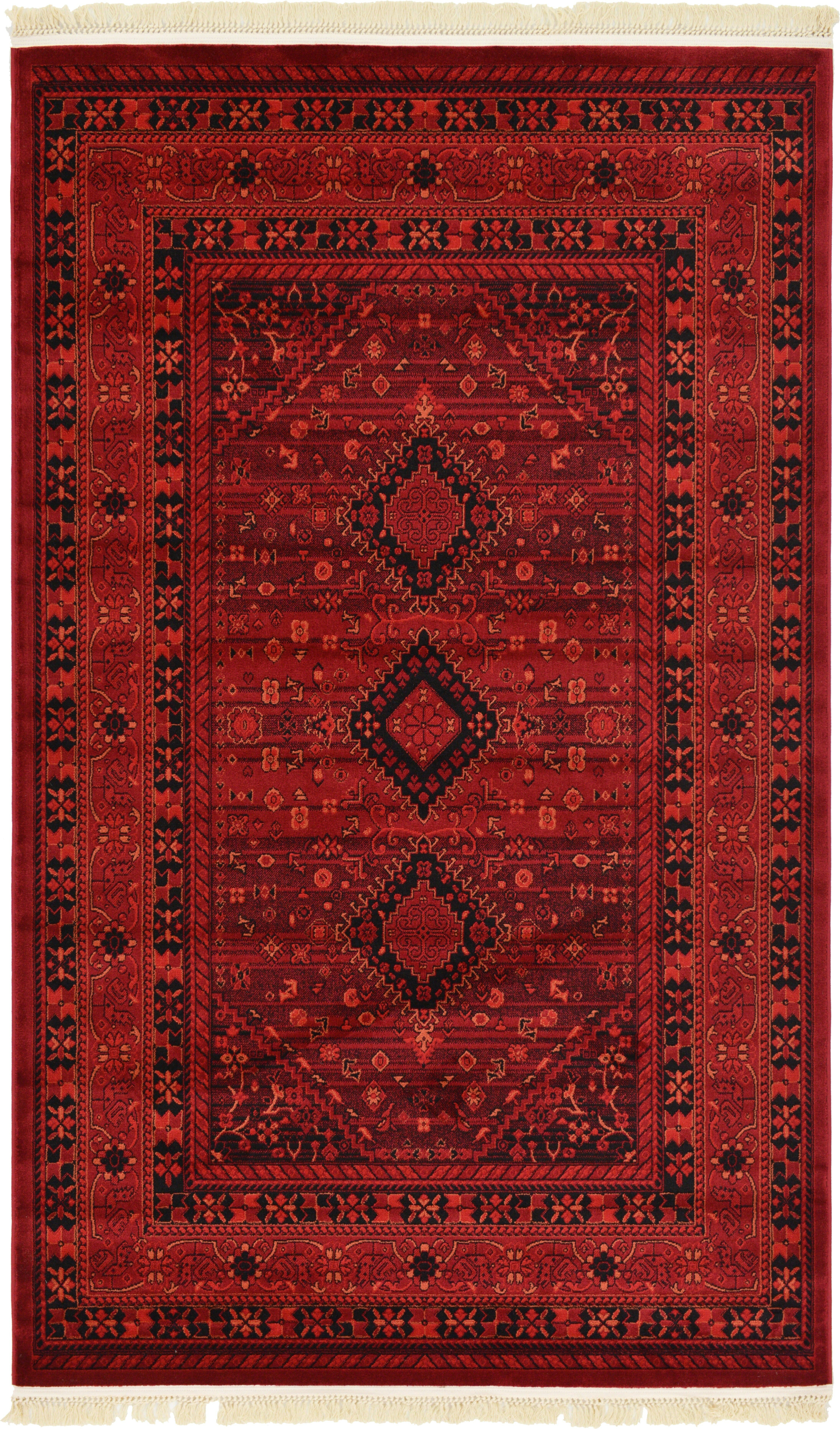 World Menagerie Kowloon Red Area Rug Reviews Wayfair