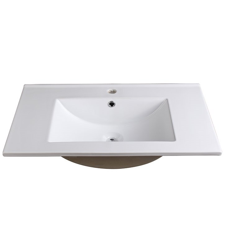 Fresca Allier Ceramic Rectangular Drop In Bathroom Sink With Overflow Reviews Wayfair