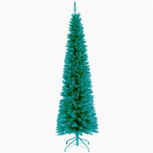 tinsel trees 6 turquoise tinsel artificial christmas tree with metal stand