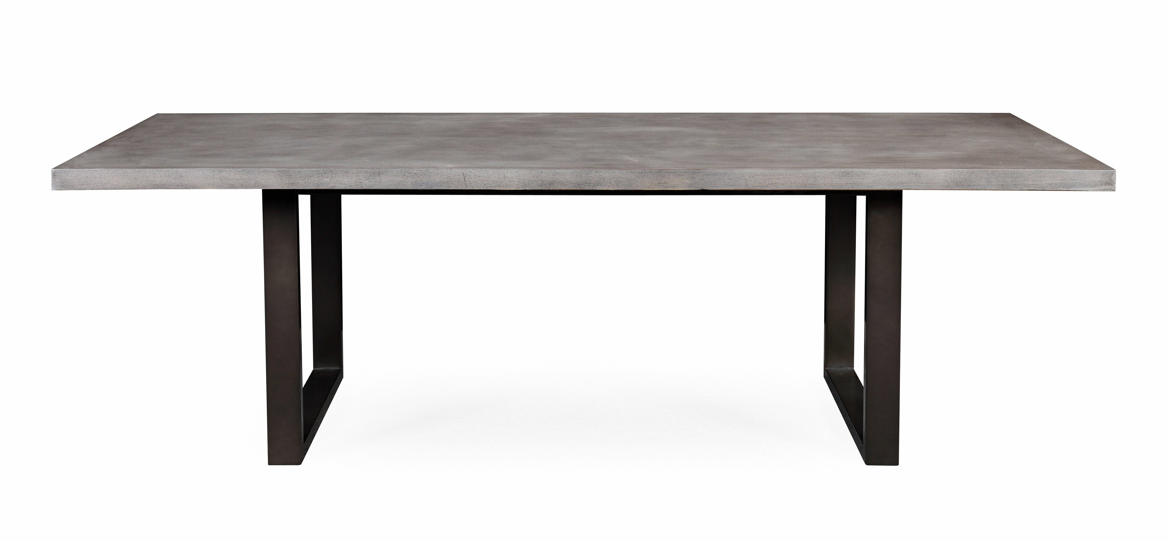 Carnarvon concrete dining table reviews allmodern