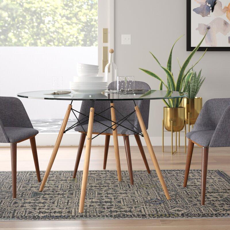 2ed380ed0ea300 George Oliver Reynaldo Solid Wood Dining Table & Reviews   Wayfair