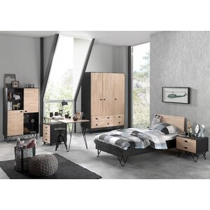 6-tlg. Schlafzimmer-Set William, 90 x 200 cm vo..