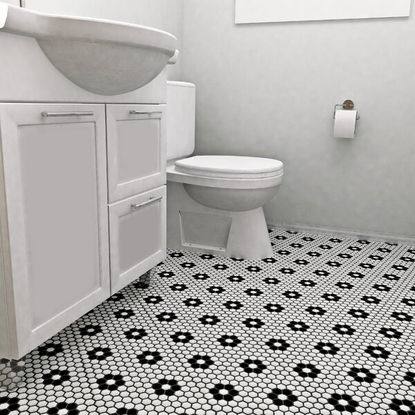 Elitetile Retro 1 X Porcelain Mosaic Tile In Glossy Black White Reviews Wayfair