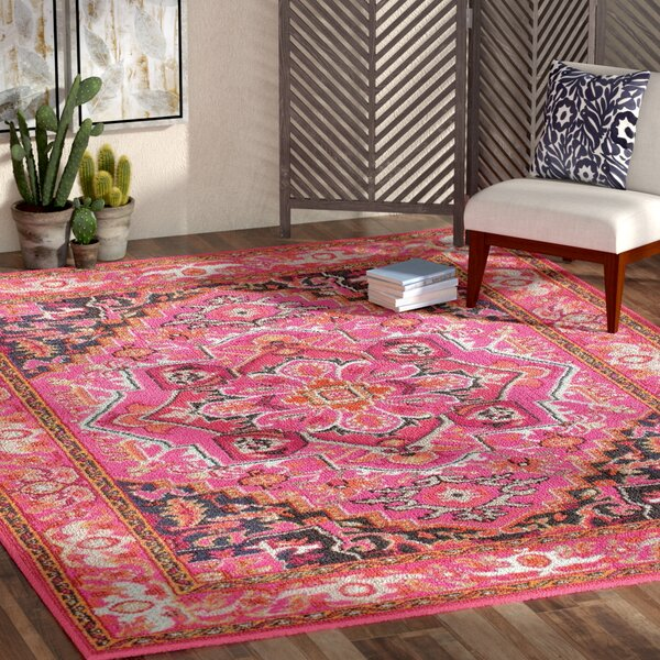 Mistana Clarke Pink Area Rug & Reviews