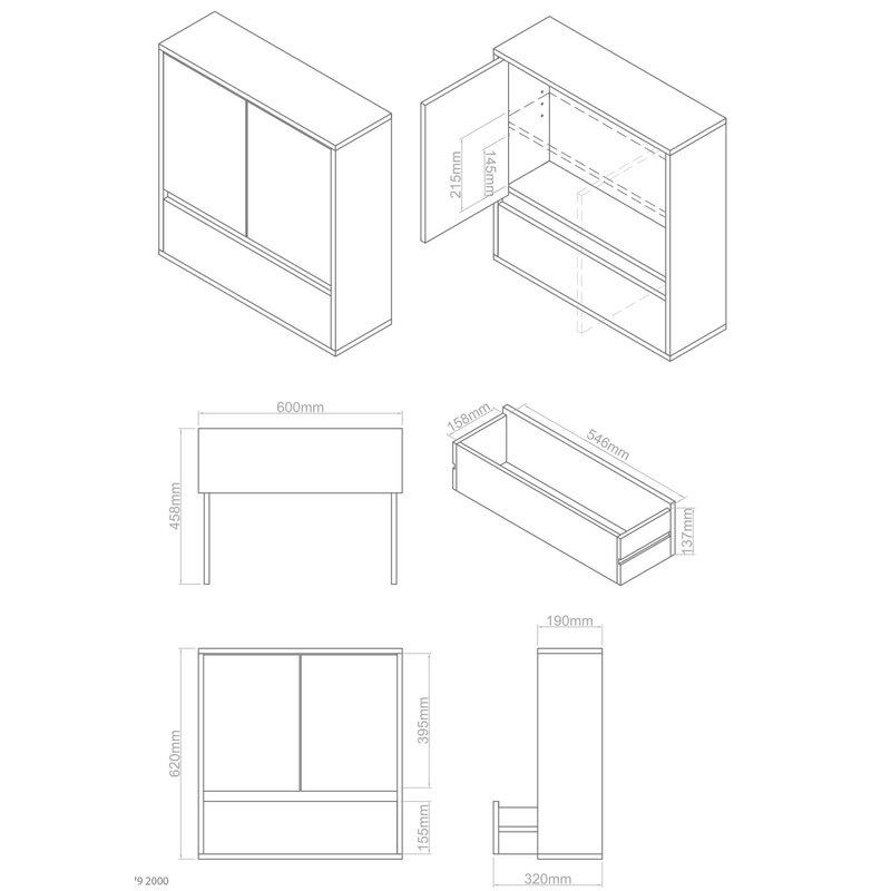 castleton home 60 x 62 cm badschrank chelsea. Black Bedroom Furniture Sets. Home Design Ideas