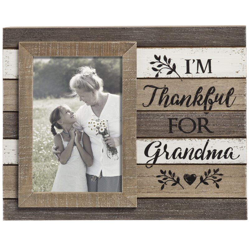 Prinz Casual Pallet \'Thankful for Grandma\' Picture Frame   Wayfair