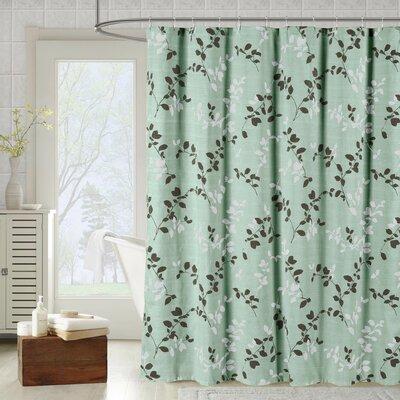 Bath Studio Meridian Printed Cotton Blend Single Shower Curtain Color: Harbor Gray