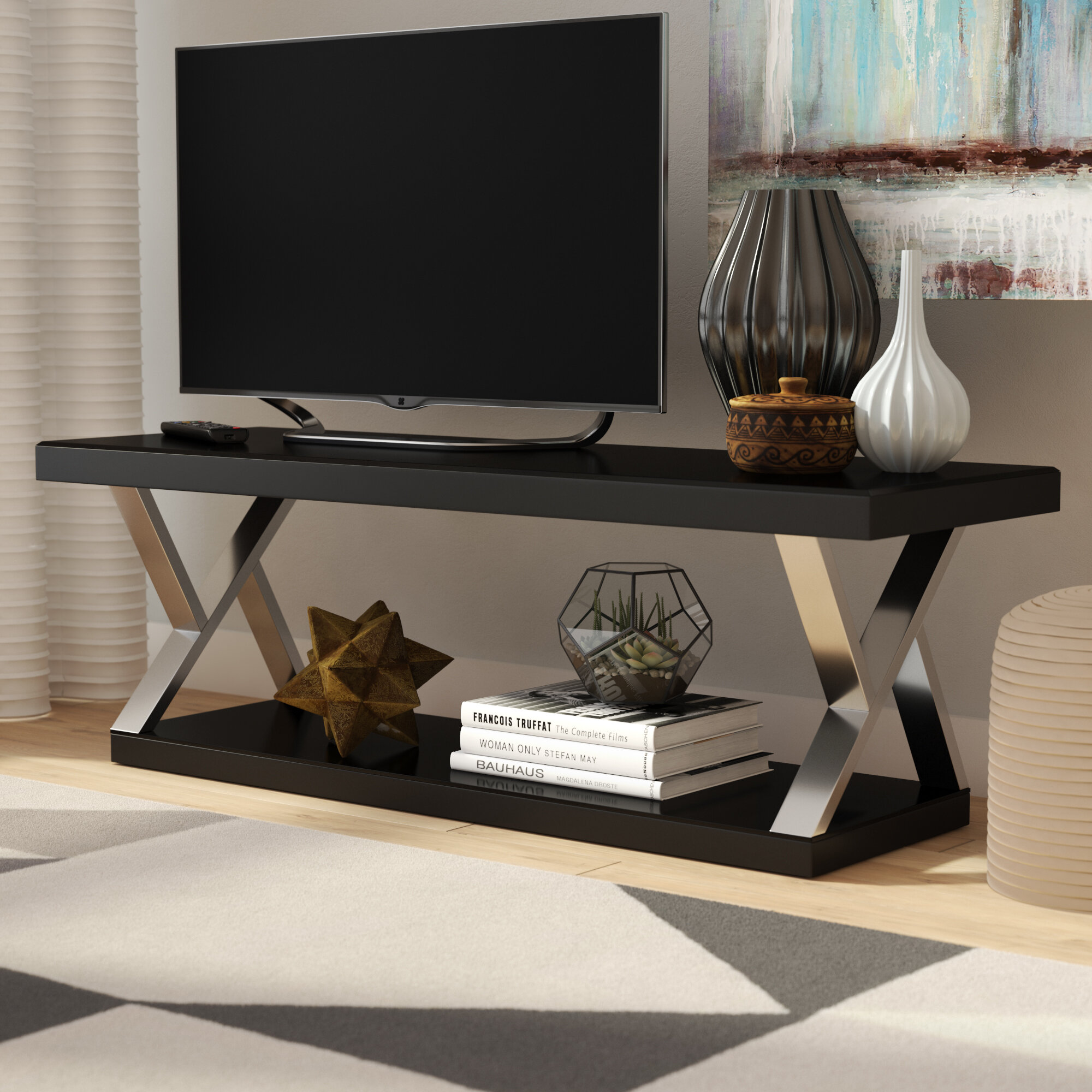 Elmer Double V Design Modern TV Stand for TVs up to 65\