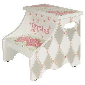 Rose Personalized Step Stool by Renditions by Reesa