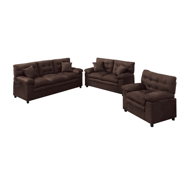 Red Barrel Studio Kingston 3 Piece Living Room Set & Reviews ...
