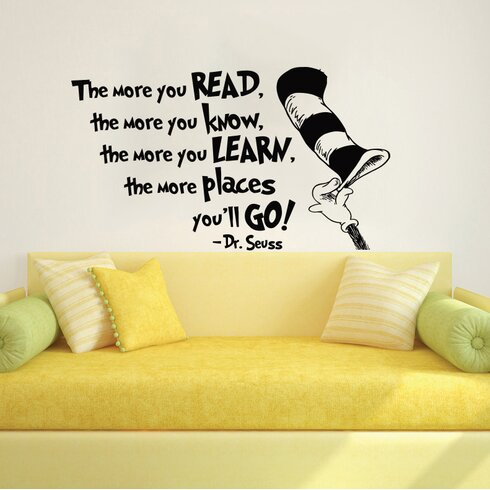 Dr Seuss the More That You Read Wall Decal  sc 1 st  Wayfair & Decal House Dr Seuss the More That You Read Wall Decal | Wayfair