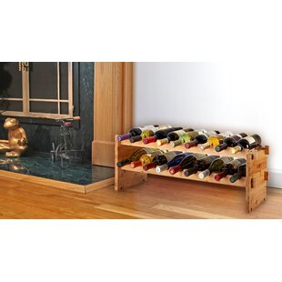 Bamboo 18 Bottle Floor Wine Rack