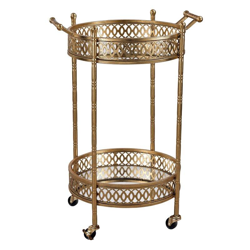 Willa arlo interiors sariyah bar cart reviews wayfair - Willa arlo interiors keeley bar cart ...