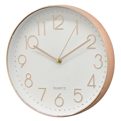 Mercury Row Malott 11.75 Wall Clock Finish: Gold