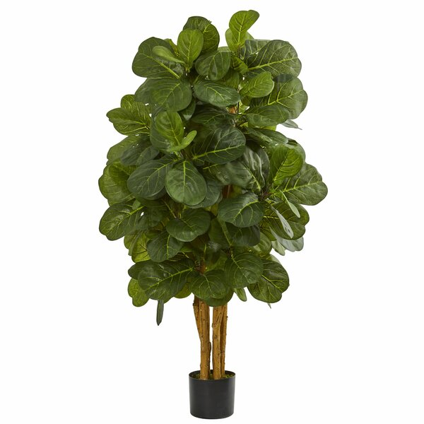 Faux Fiddle Leaf Fig Tree In Pot & Reviews