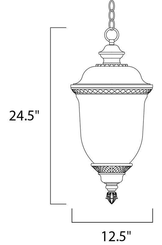 Noack 3-Light Outdoor Hanging Lantern