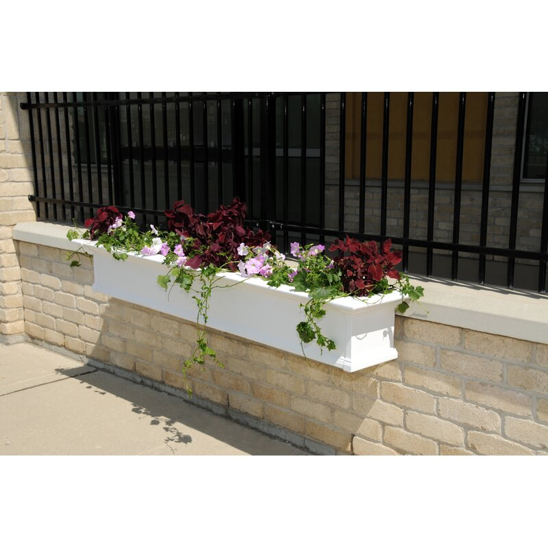 Mayne Inc. Yorkshire Self-Watering Plastic Window Box Planter ... on