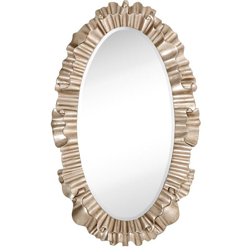 Majestic Mirror Oval Antique Silver Leaf Ornate Framed Beveled Glass ...