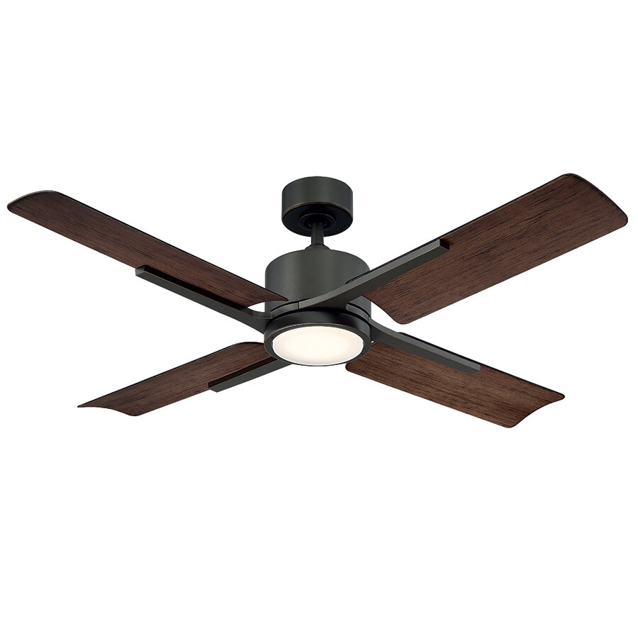 Modern Forms 56 Cervantes 4 Blade Outdoor Led Ceiling Fan With Remote Wayfair