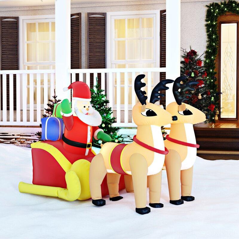 Christmas Decoration Store Portland Oregon: The Holiday Aisle Christmas Inflatable Santa On Sleigh