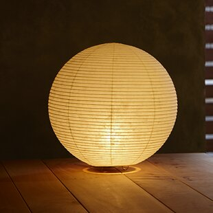 Paper Sphere Moon 12 Table Lamp
