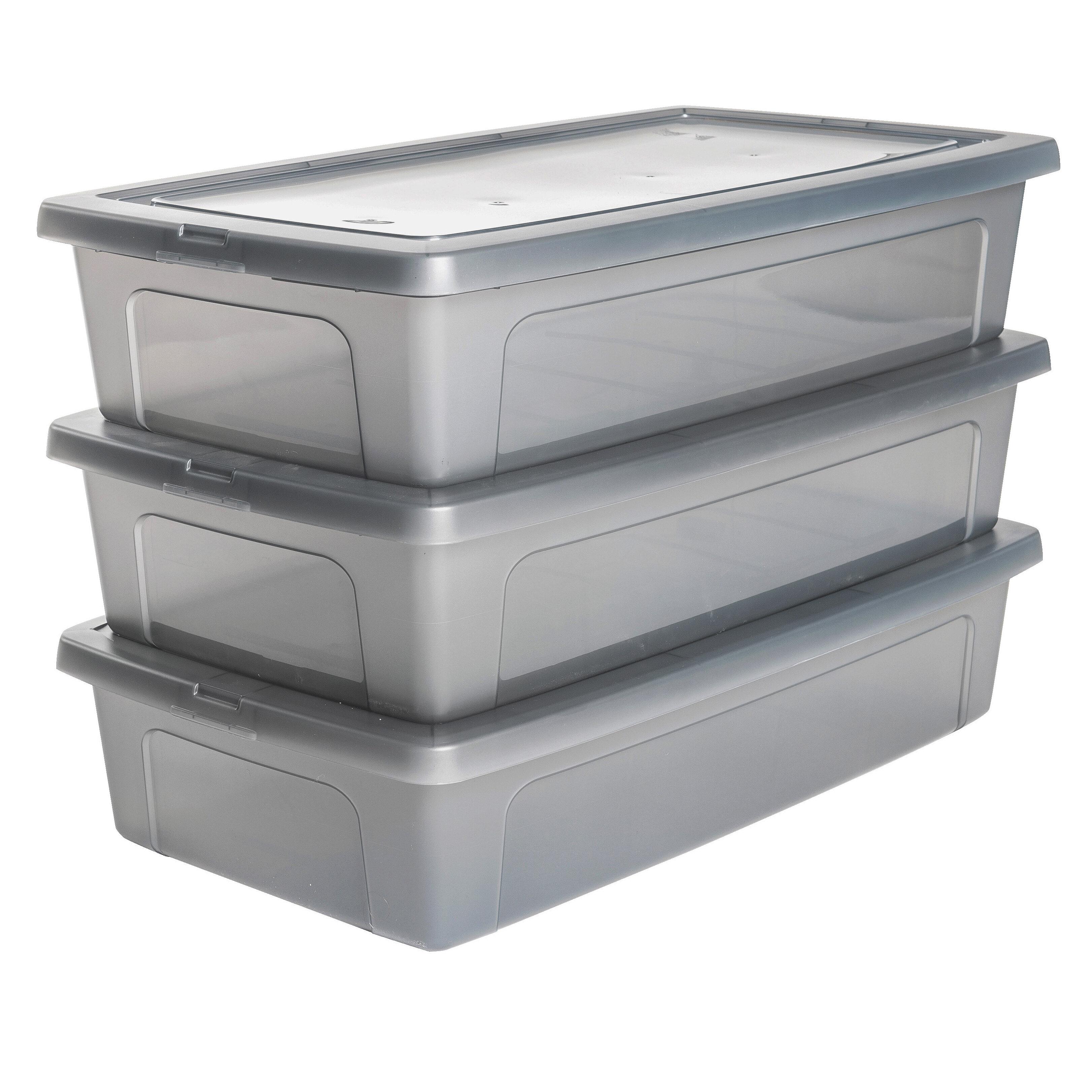 iris plastic underbed storage box wayfair co uk