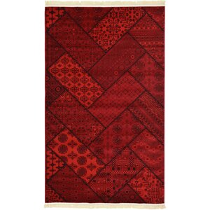 Ivette Traditional Red Area Rug