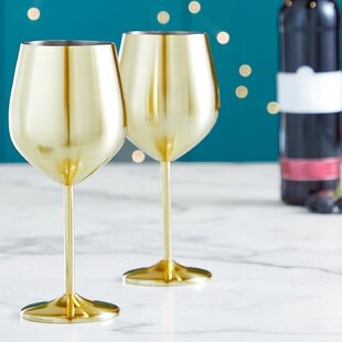 bb41ee7db81 Stainless Steel Wine Glasses You'll Love in 2019 | Wayfair