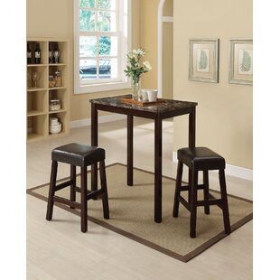 Askern 3 Piece Counter Height Dining Set (Set of 3)