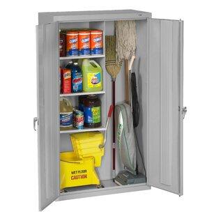 Superbe Mop And Broom Storage Cabinet | Wayfair