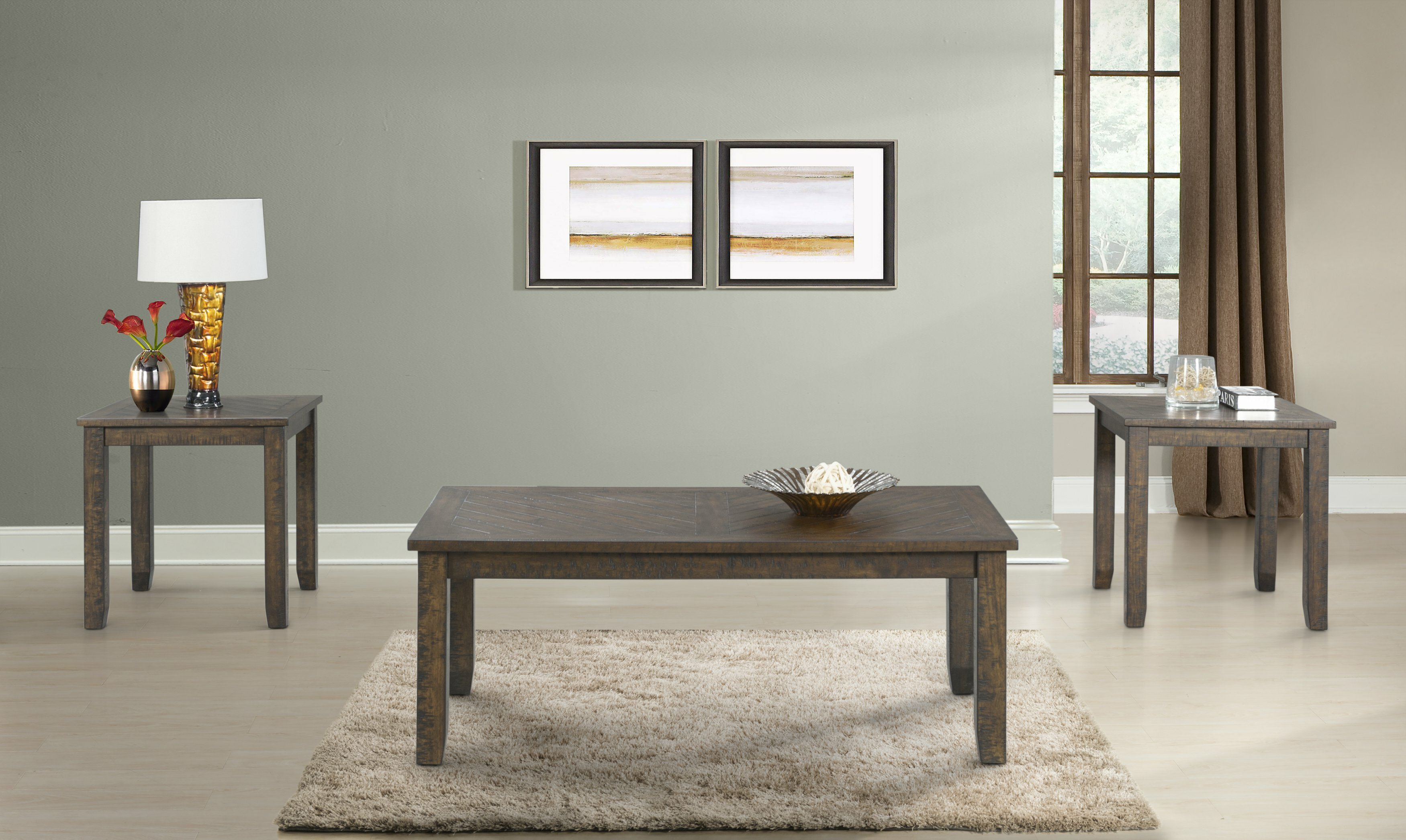 Laurel Foundry Modern Farmhouse Dearing Occasional 3 Piece Coffee Table Set | Wayfair : 3 piece occasional table set - pezcame.com