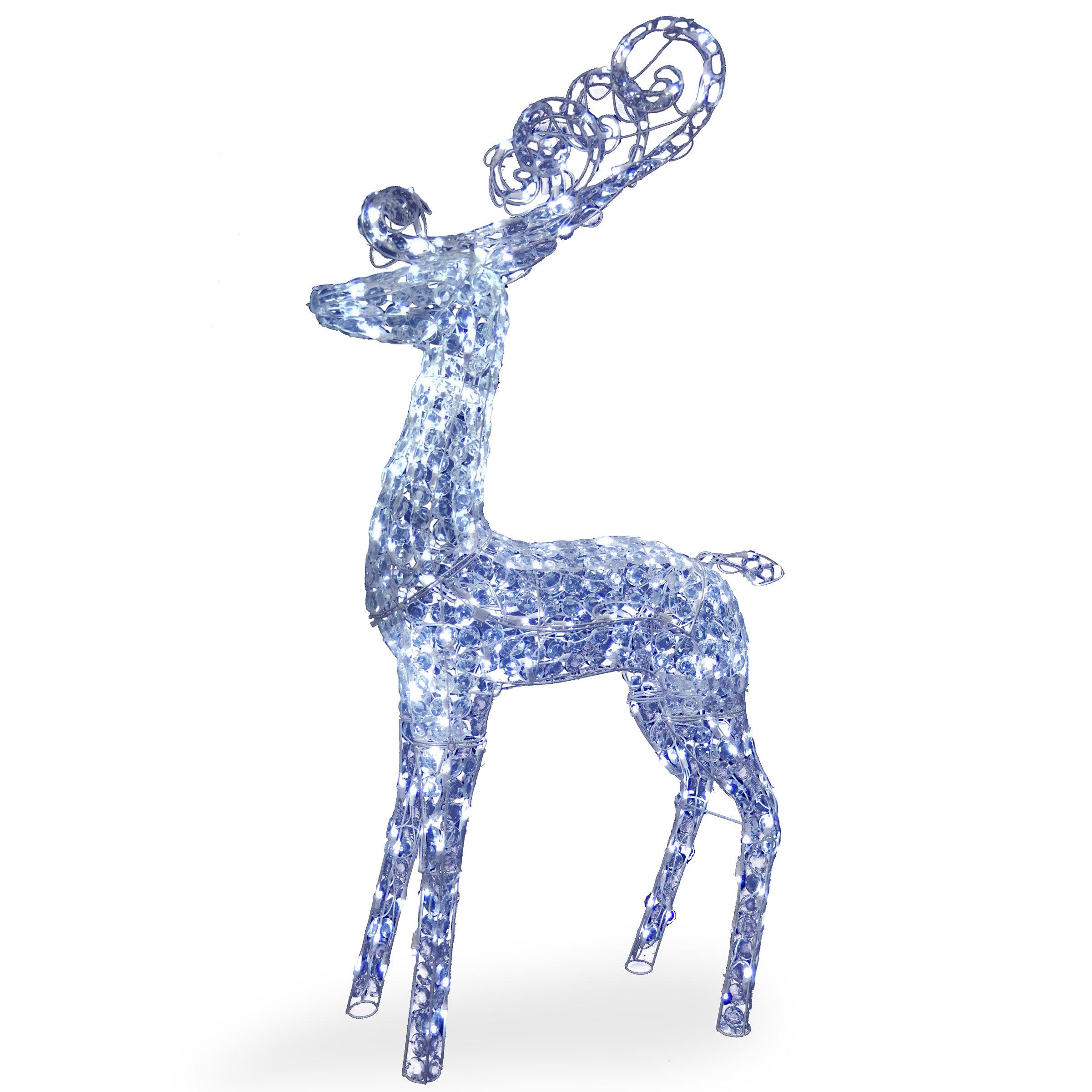 Crystal Deer Christmas Decoration   Wayfair