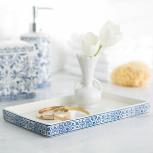 marble bathroom accessory tray - Bathroom Accessories Vanity Tray