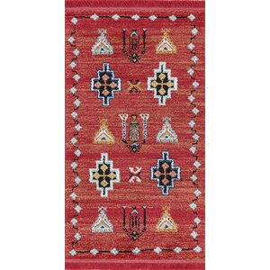 Hervey Red Area Rug