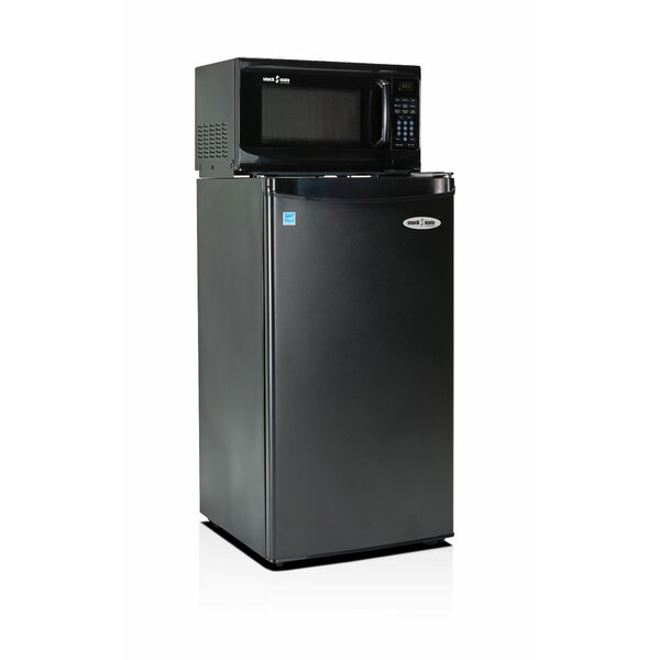 tiny refrigerator office. Microfridge Snackmate 3.2 Cu. Ft. Compact Refrigerator With Microwave   Wayfair Tiny Office D