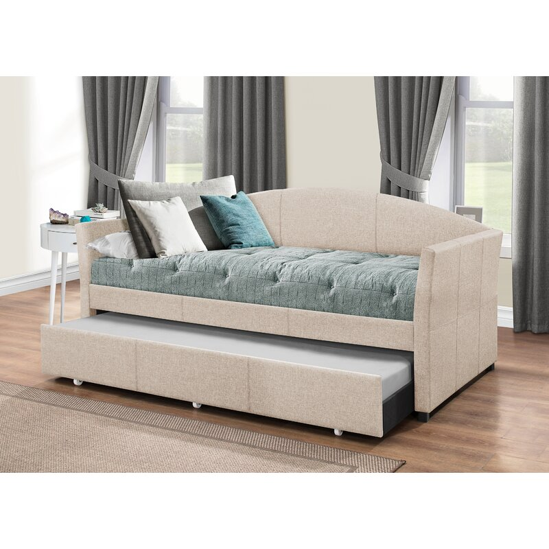 Alvina Upholstered Daybed With Trundle