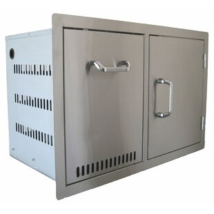 Built In Combo Accessory Propane Tank And Trash Cabinet And Single Door