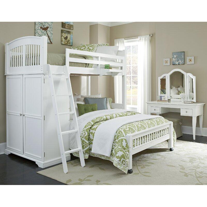 Harriet Bee Javin Twin Locker Loft With Full Lower Bed Wayfair