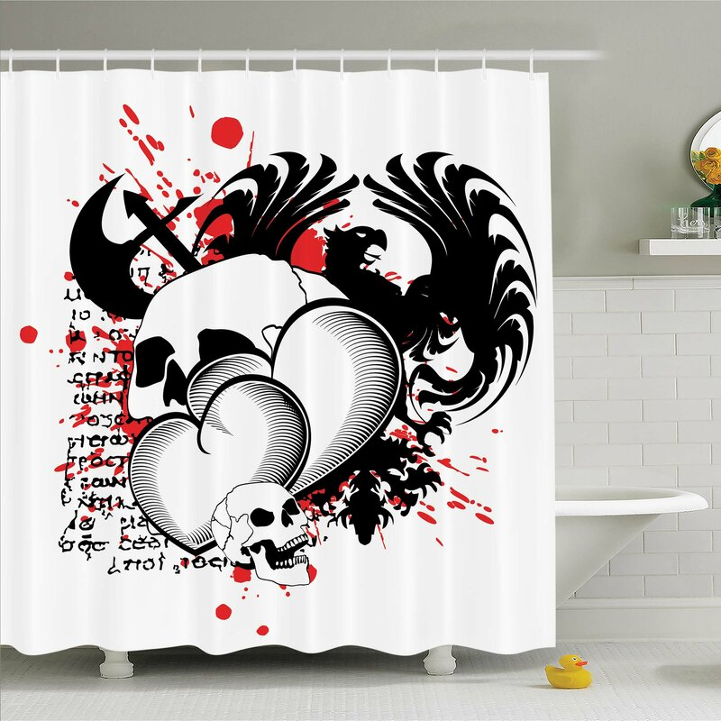 Tattoo The Majestic Creature Head Of A Wild Wolf Tribal Design Shower Curtain Set