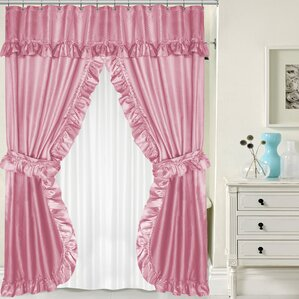 pale pink shower curtain. Double Swag Shower Curtain Set Pink Curtains You ll Love