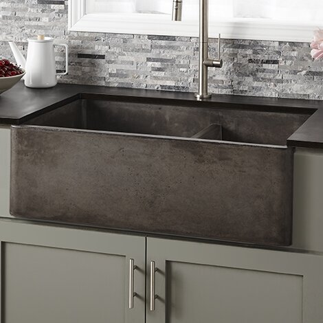 Native Trails 33 L X 21 W Double Basin Farmhouse Kitchen Sink Reviews Wayfair