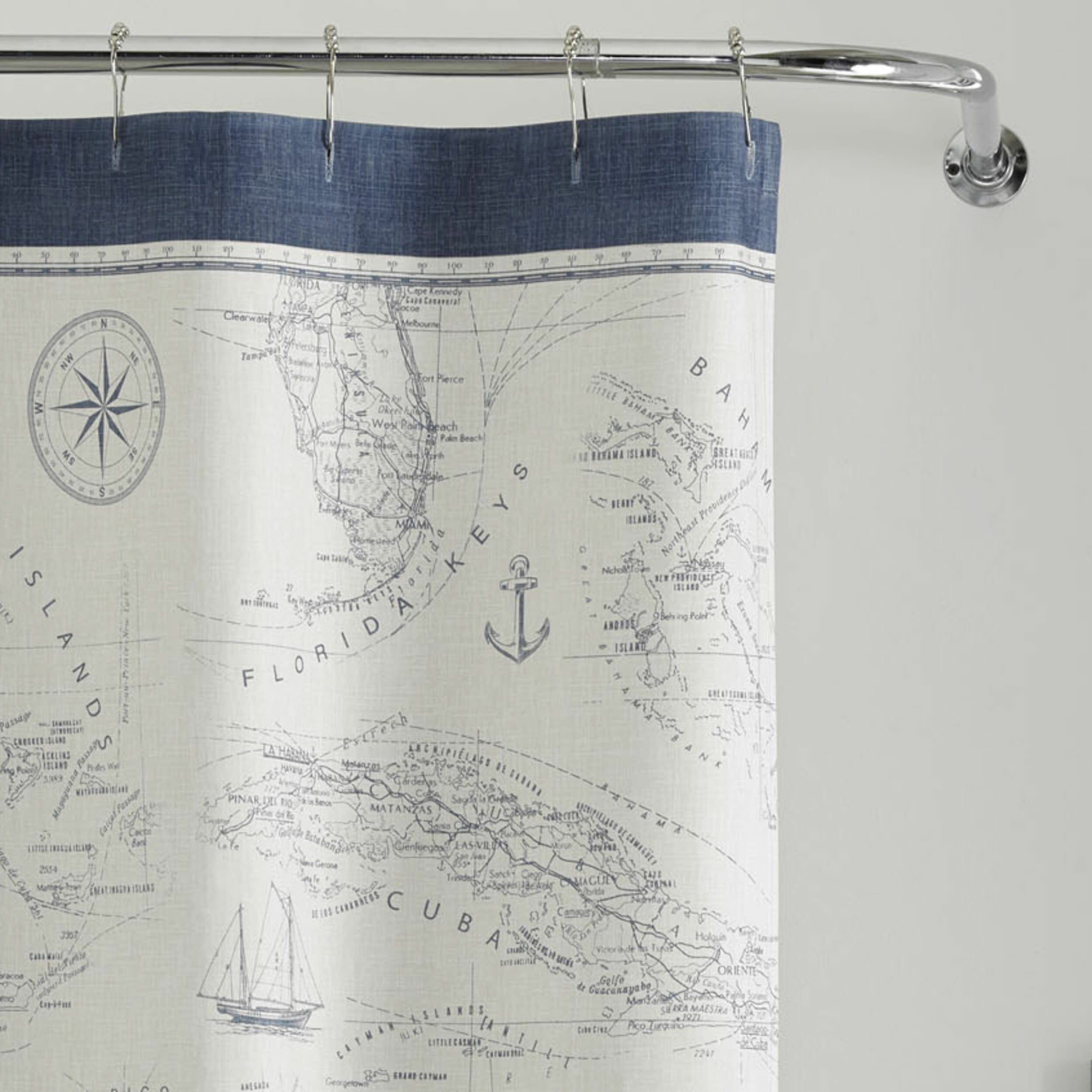 Tommy Bahama Home Caribbean Sea Cotton Shower Curtain Reviews